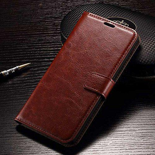 Leather Magnetic Lock Wallet Flip Cover Case for Xiaomi Redmi Note 4