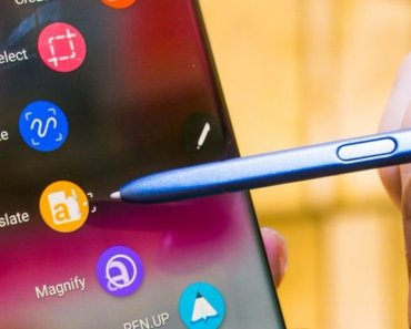 Galaxy Note 8 Apps showing the popular SPen feature