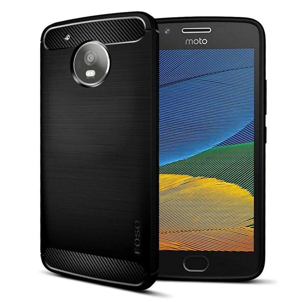 Moto G5 Black Back Cover