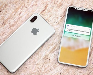 Apple iPhone 8 design showed in a render image shared by MaxRumors