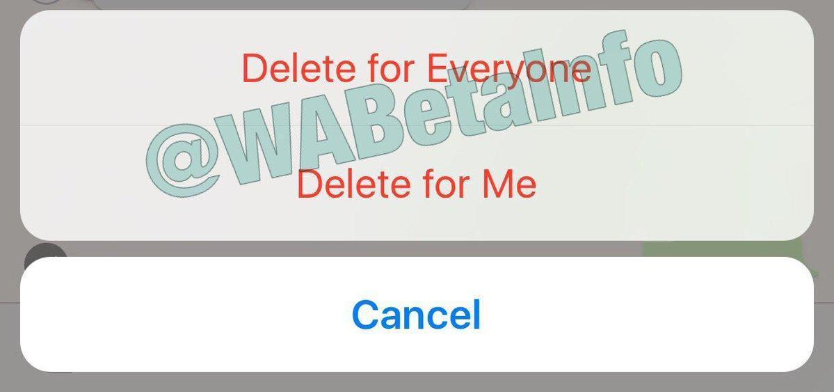 WhatsApp recall feature is now renamed to delete for everyone