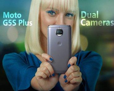 Moto G5S Plus dual cameras
