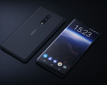 Nokia 9 renders showing its back and front in black color