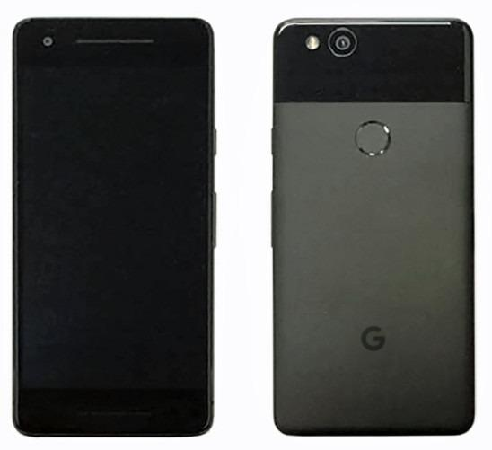 Google Pixel 2 Renders showing its back and front