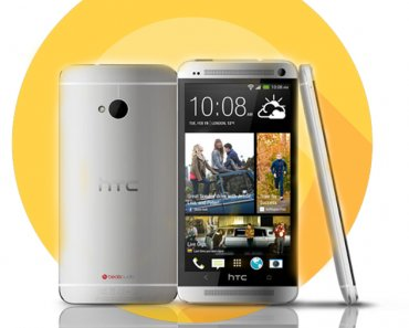 HTC One M7 in Silver Color