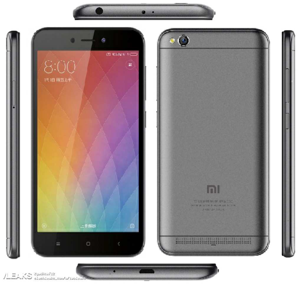 Xiaomi redmi 5a specifications images launch date leaked xiaomi redmi 5a stopboris Images