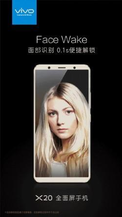 Vivo X20 face wake