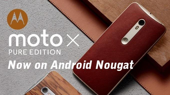 Android Nougat update for Moto X Pure released