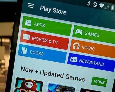 Google Play store on an Android phone