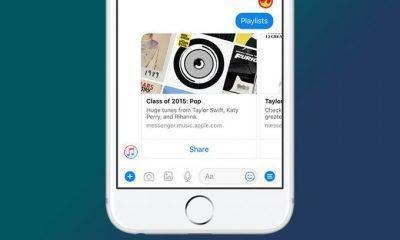 Apple Music FB Messenger