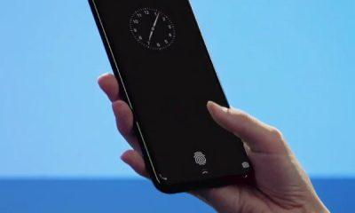 In-screen fingerpint sensor Galaxy S9