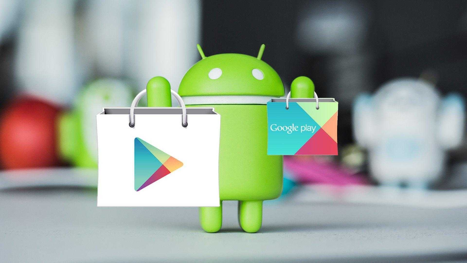 Play Store Logo with google play logo