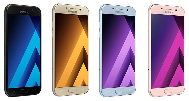 Galaxy A5 2017 in different colors