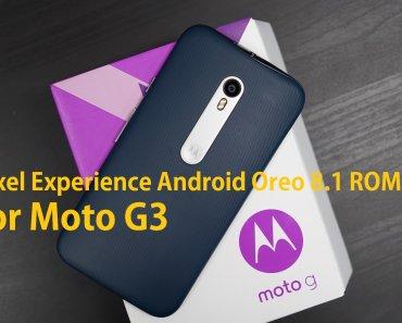 Pixel Experience ROM 8.1 Moto G3