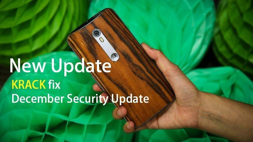 Moto X Pure Edition December security update
