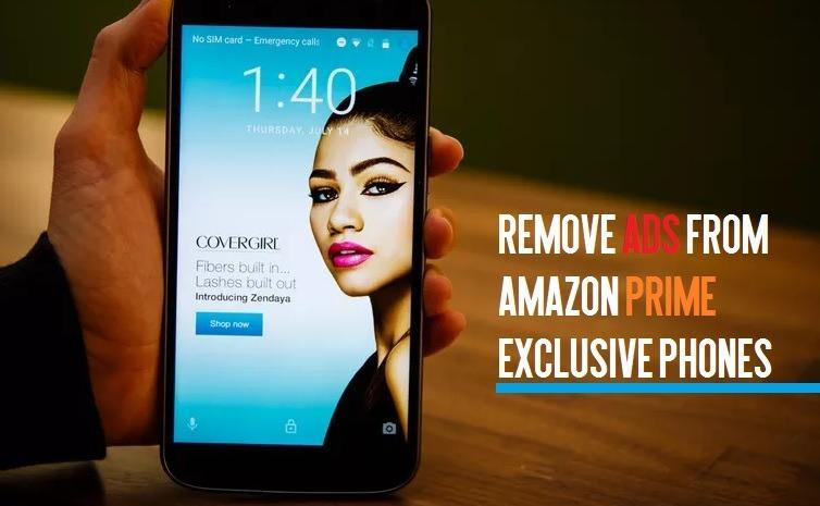 Remove ads from Amazon prime smartphones