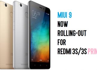 Miui 9 for Redmi 3/3s Prime
