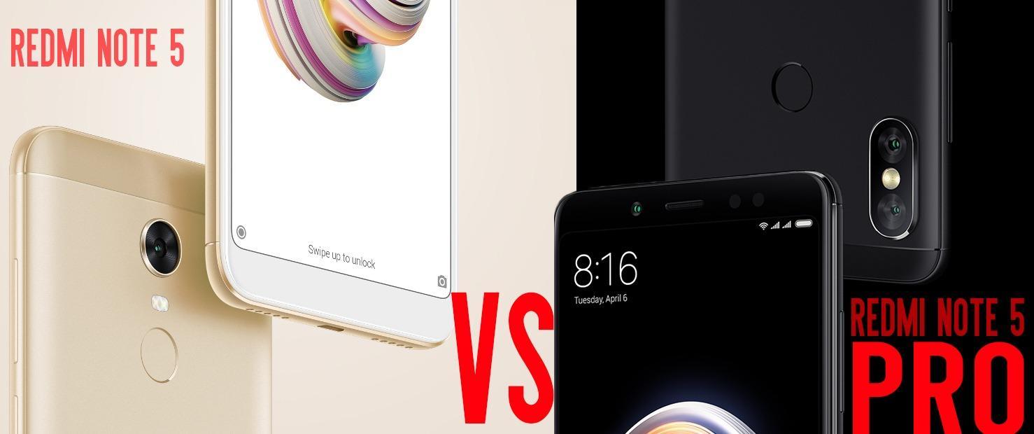 Xiaomi Redmi Note 5 Pro Vs Redmi Note 5 Which One Should
