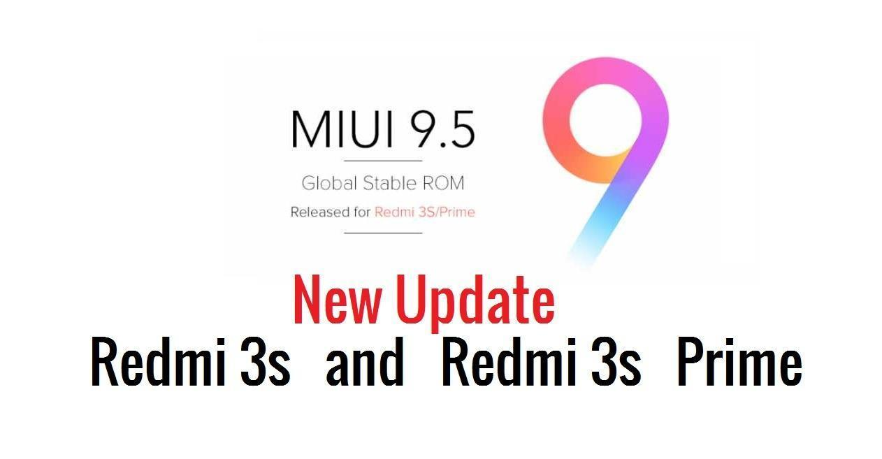 Redmi 3S/3S prime Miui 9.5 update