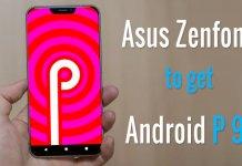 Asus Zenfone Android Pie 9.0 list