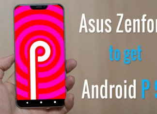Asus Zenfone Android P 9.0 list