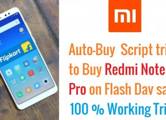 How to buy Redmi note 5 with Script