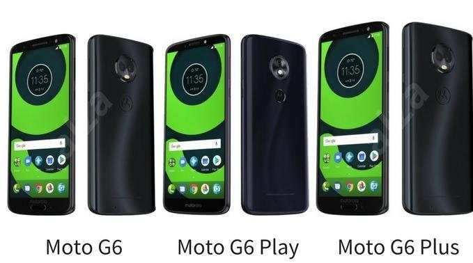 Moto G6, Moto G6 play and Moto G6 Plus leaked images
