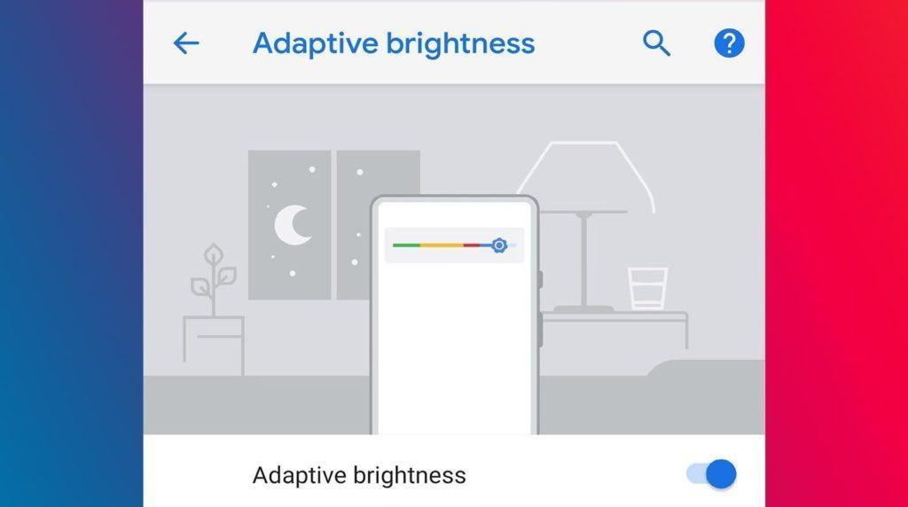 Andrpod P 9.0 Adaptive brightness