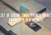 Xiaomi Android P update list