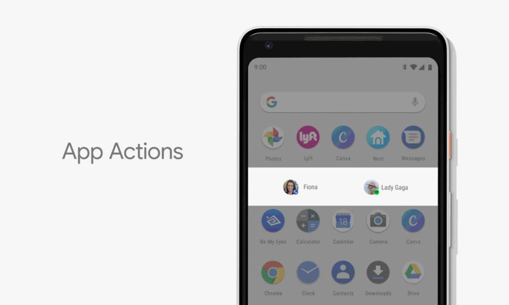 Andrpod P 9.0 App Actions