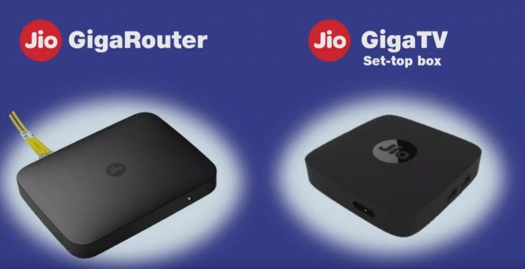 JIo GigaRouter and Giga TV