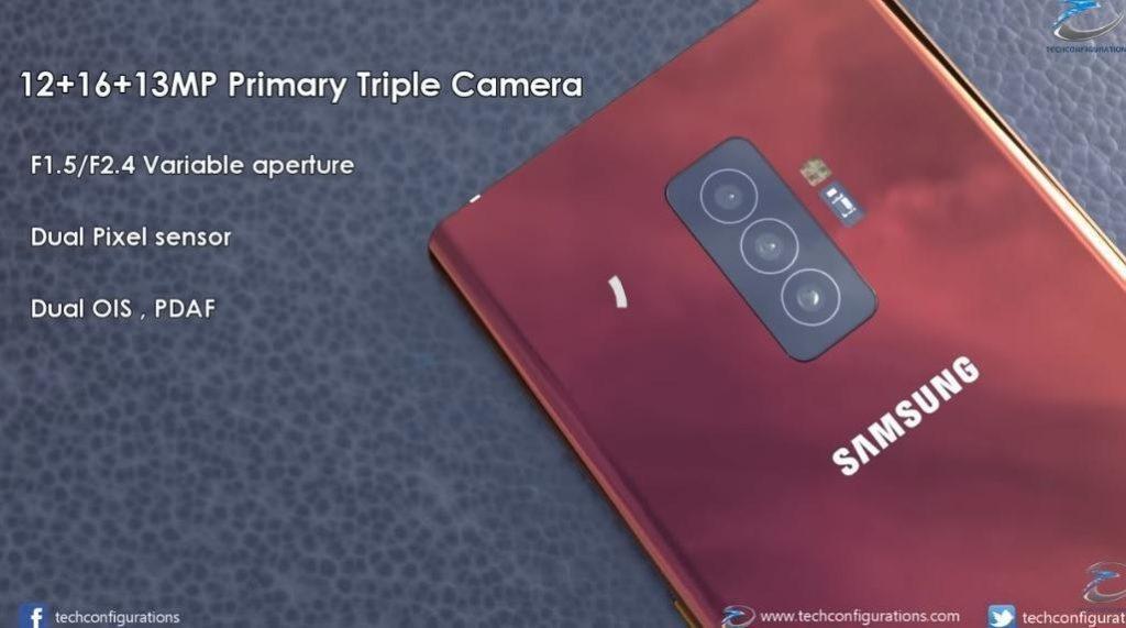 Galaxy Note 10 camera concepts