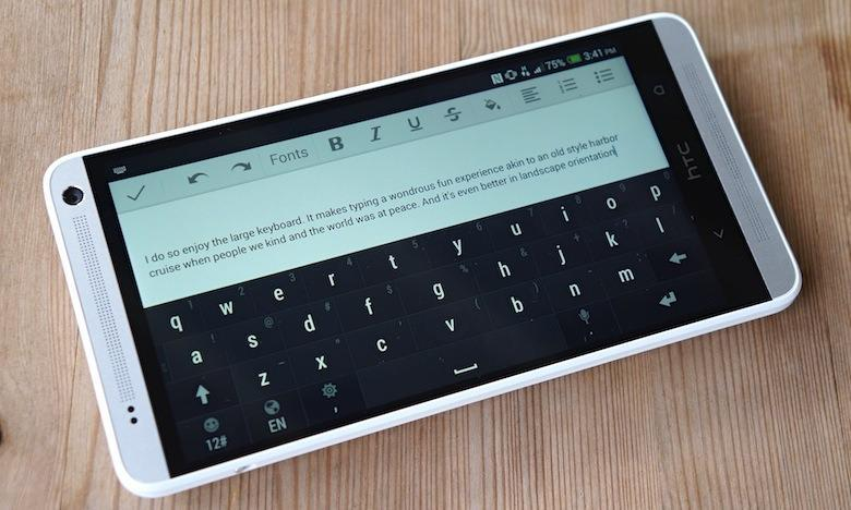 Google Keyboard app on an Android smartphone