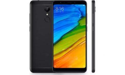 Redmi 5 in black color front and back view