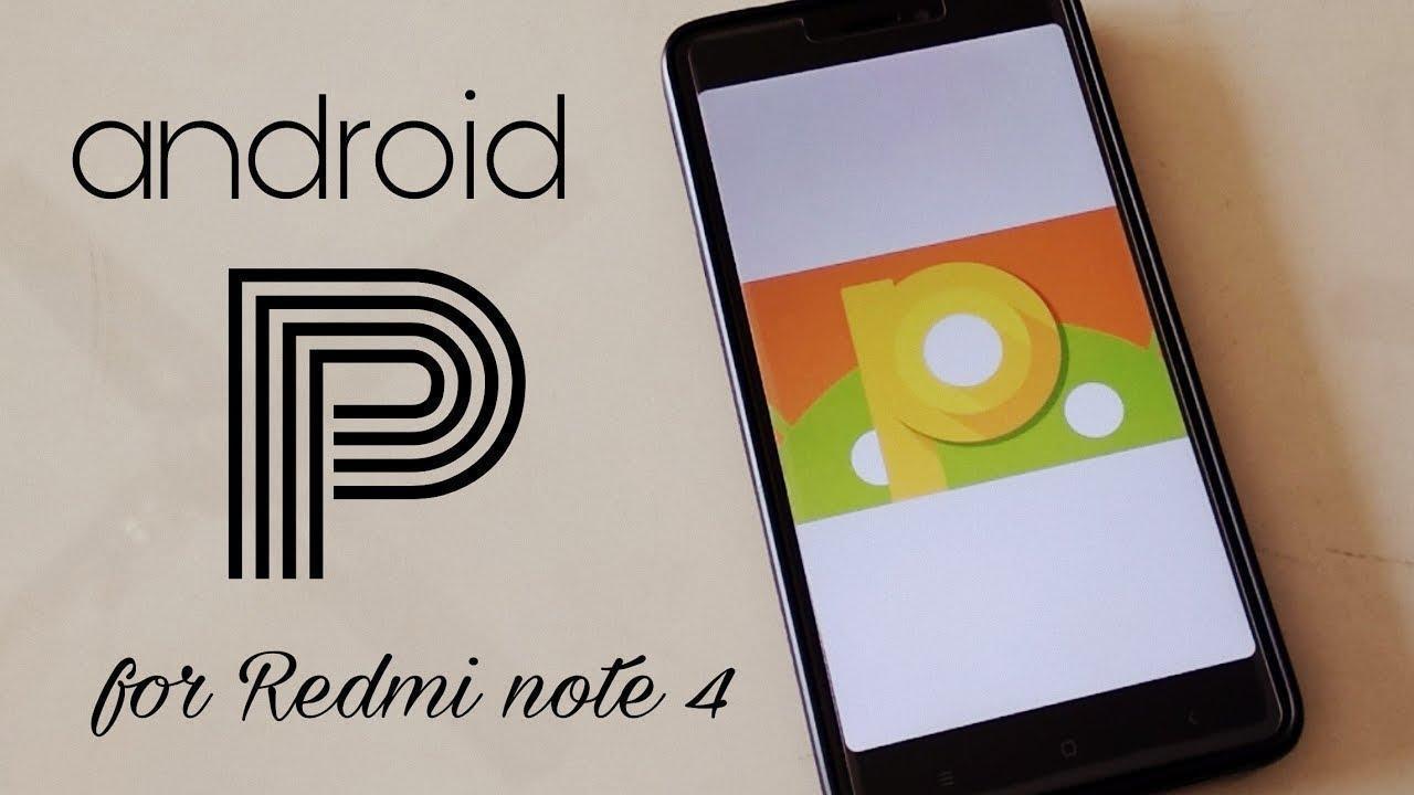 Redmi Note 4 Android 9 Pie update
