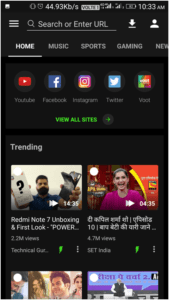 Open the app from your Home Screen and free download videos from YouTube