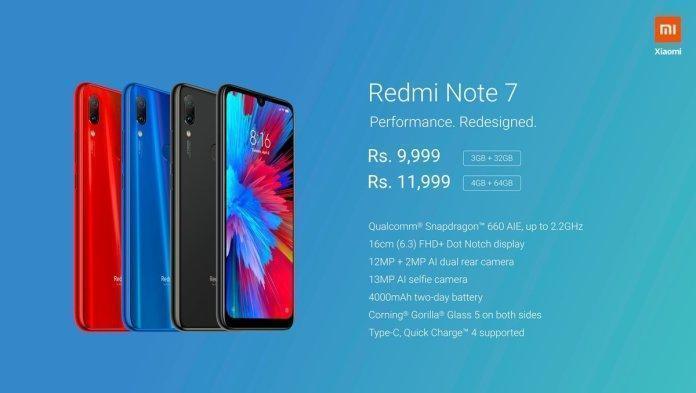 Redmi Note 7 Price in India