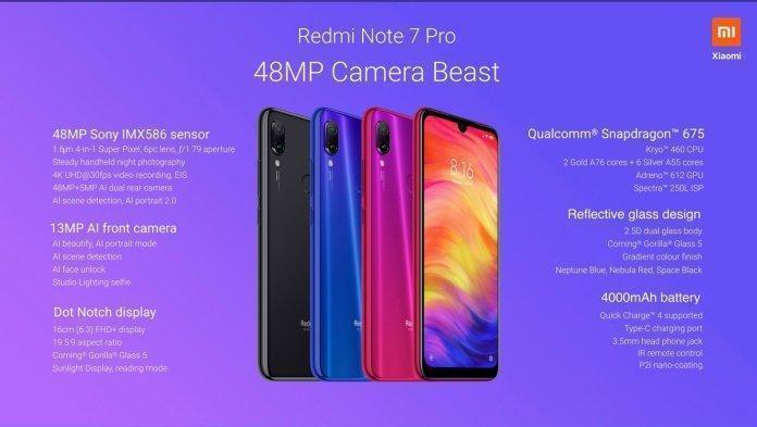 Redmi Note 7 Pro Camera Specs