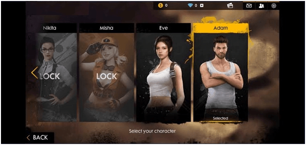 Garena Free Fire characters