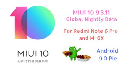 MIUI 10 9.3.11