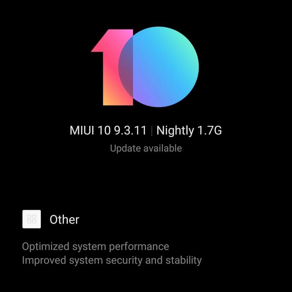 MIUI 10 9.3.11 update for Redmi Note 6 Pro and Mi 6X