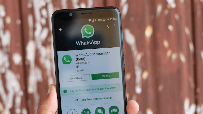 Whatsapp on Android Play Store