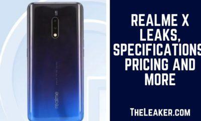 Realme X Leaks- TheLeaker