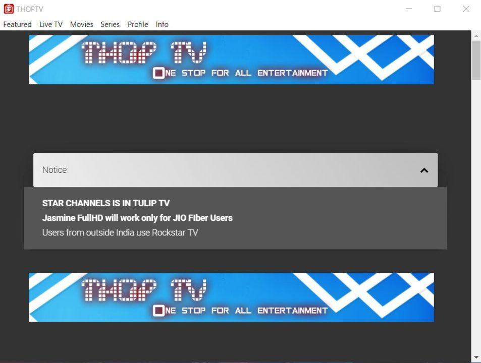 ThopTv PC
