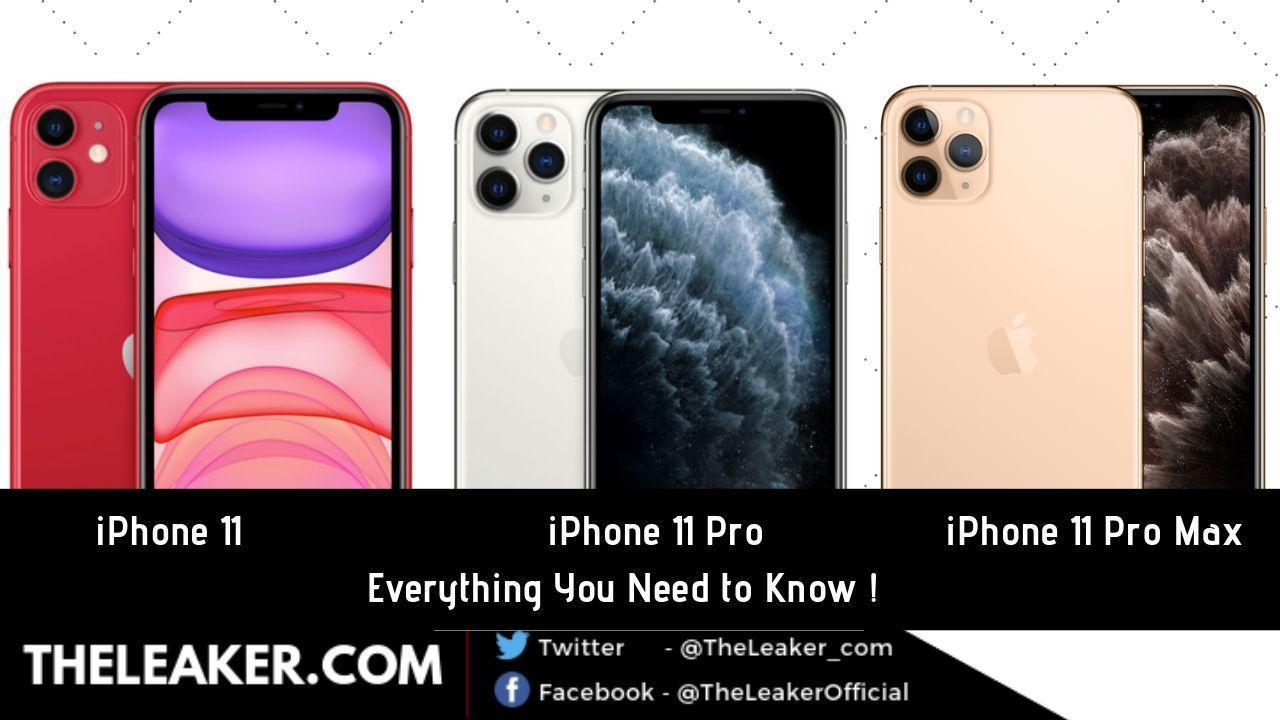 iPhone 11 Vs. iPhone 11 Pro Vs. iPhone 11 Pro Max: Specs, Price and Features