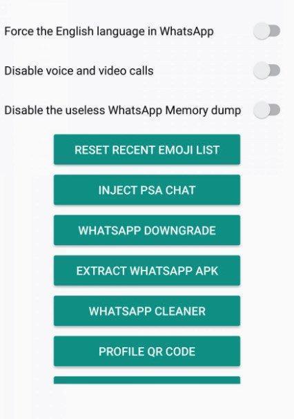 WA Tweaker settings